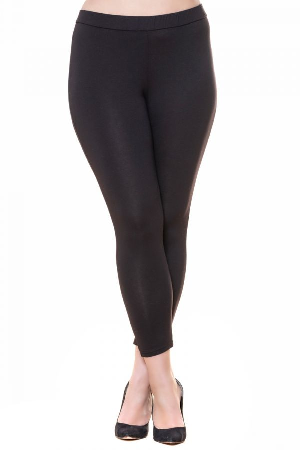 Light-weight high-waisted leggings in black colour