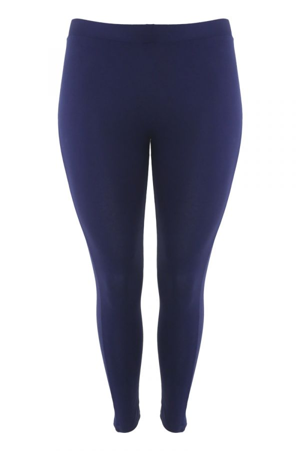 Light-weight high-waisted leggings in blue colour