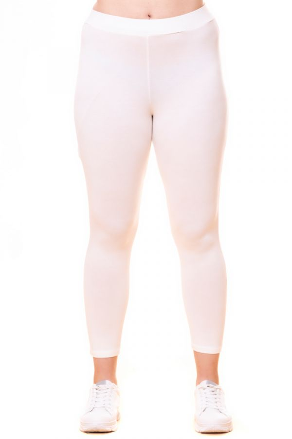 Light-weight high-waisted leggings in ecrou colour