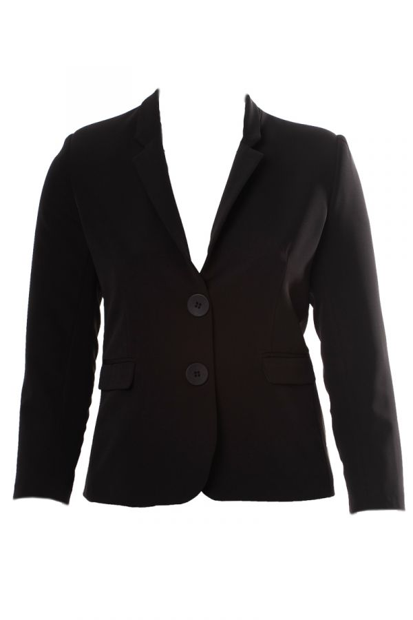 Crepe-blazer in black colour
