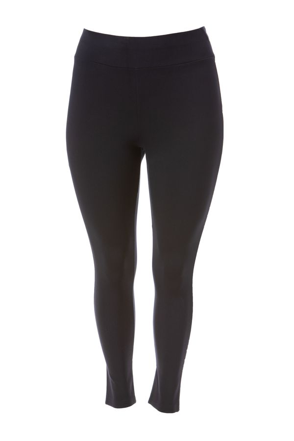"""""""Berlin"""" leggings with wide elasticated waistband in blue colour"""