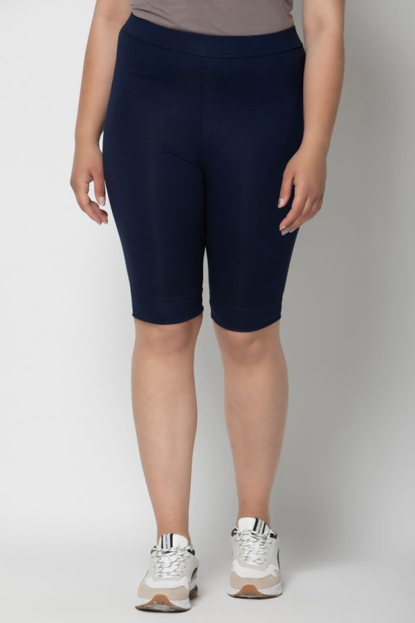 Heavy-weight cycling shorts in blue colour