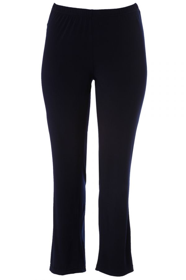 Elastic light-weight straight leg trousers in blue colour