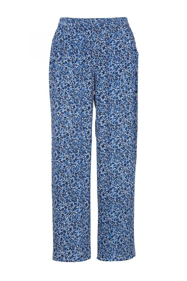 Crepe trousers in blue colour
