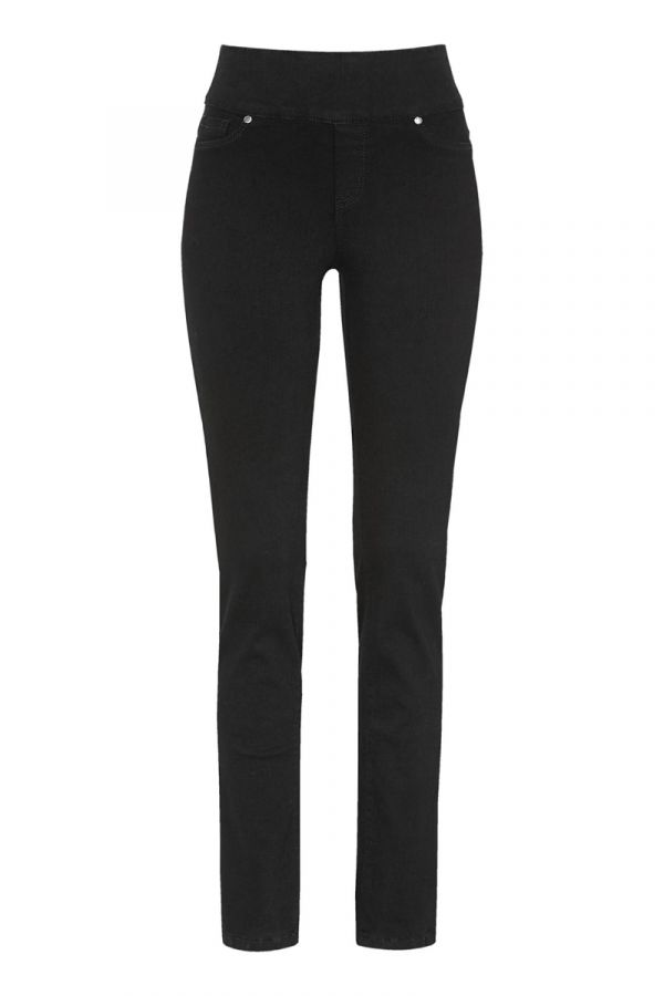 Jeans with wide elasticated waist in denim black colour