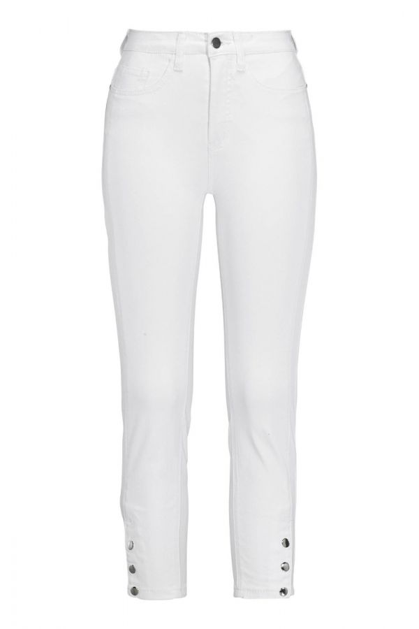 Slim line Jeans in denim white colour and button closure