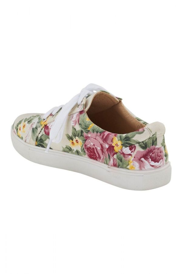 c18428fe626 Λευκά floral sneakers