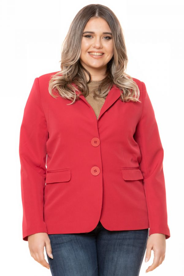 Crepe-blazer in red colour