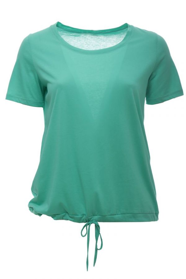 T-shirt with drawstring hem in green colour