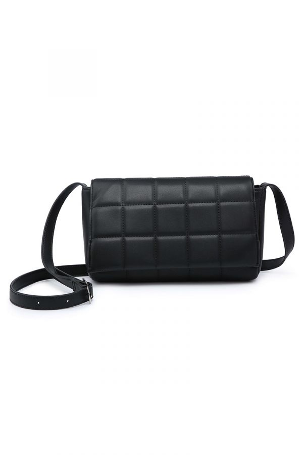 Crossbody quilted bag in black colour