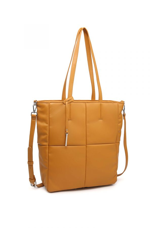 Shopping-bag style bag in rust colour