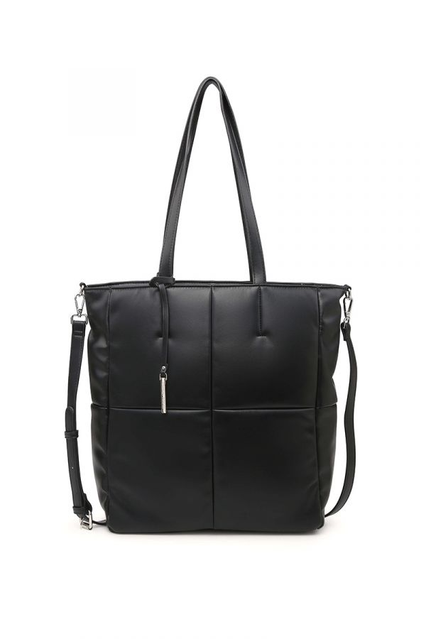 Shopping-bag style bag in black colour