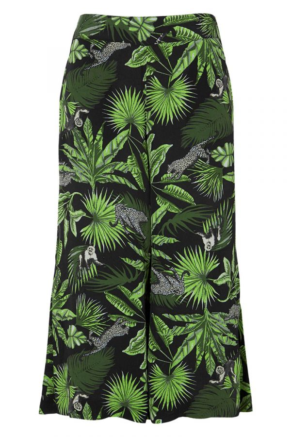 Zip cullote with jungle prints