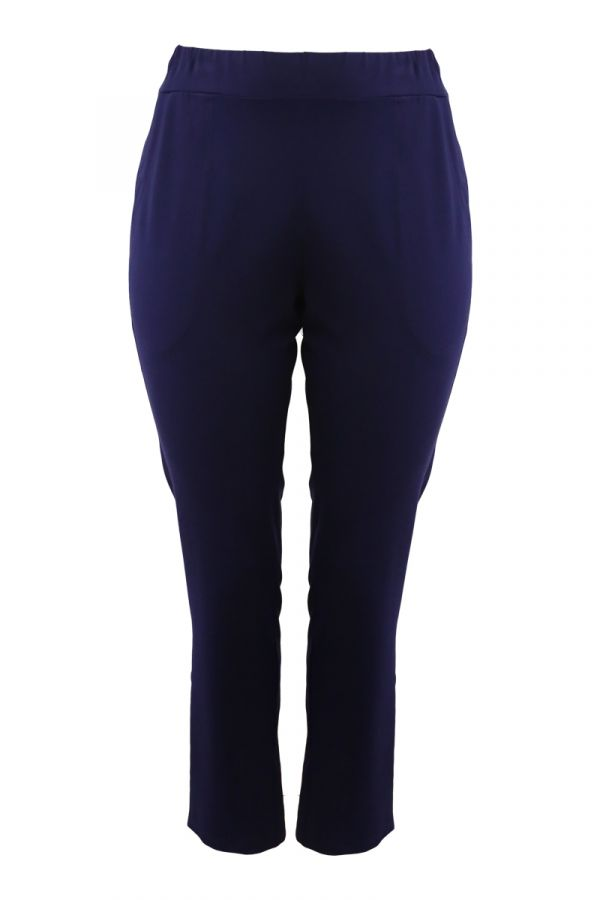 Heavy-weight tapered trousers in blue colour