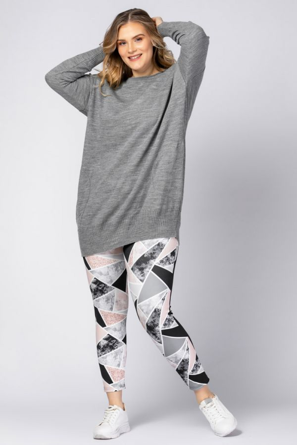 Sportleggings mit Marmor-Print