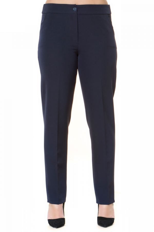 Cigarette trousers with side pockets in blue colour