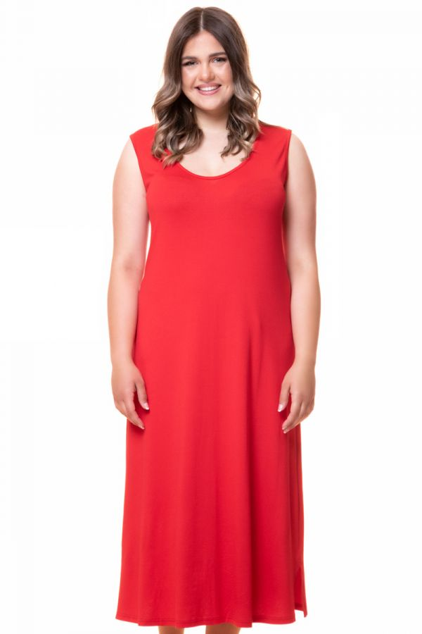 Tank dress in red colour