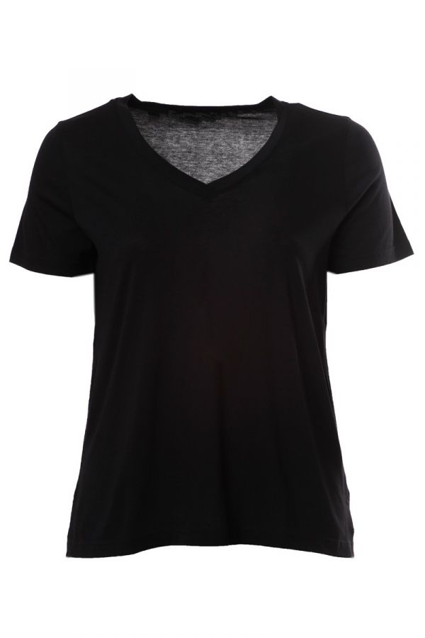Short sleeve hi-lo light-weight t-shirt in black colour