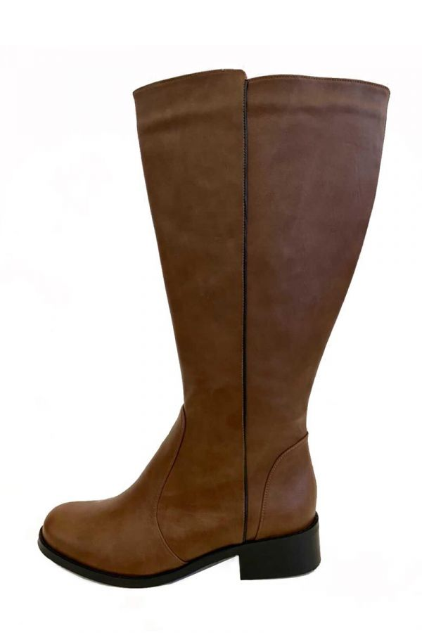 Wide calf knee-high boots in taba colour