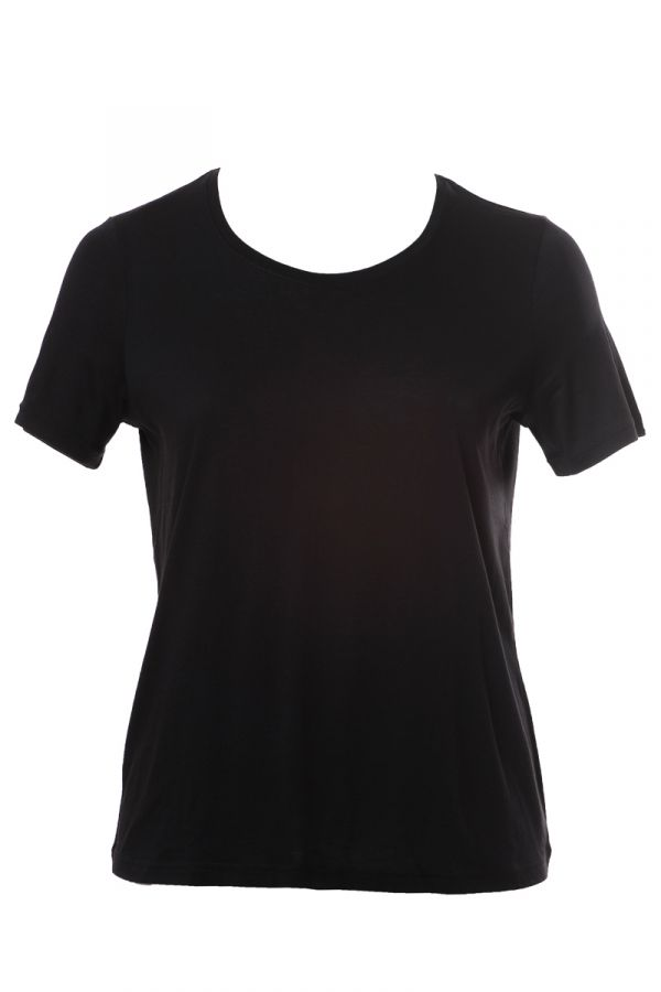 Basic short sleeve light-weight t-shirt in black colour