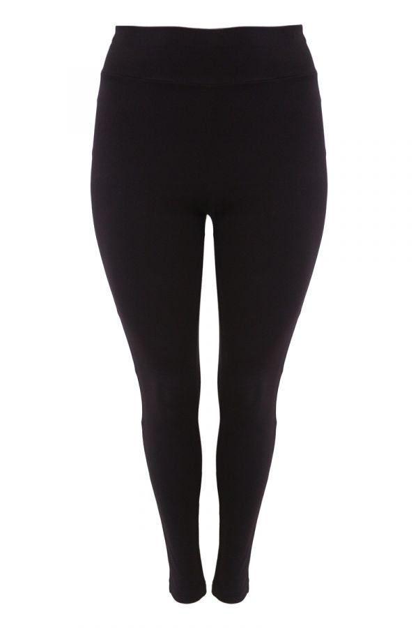 """Berlin"" leggings with wide elasticated waistband in black colour"