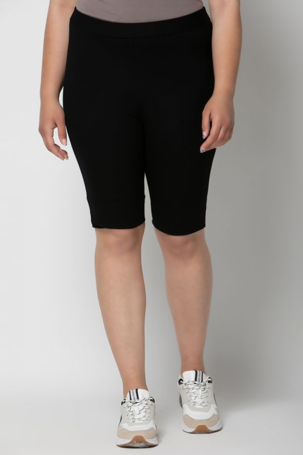 Heavy-weight cycling shorts in black colour