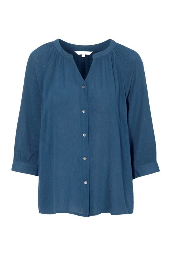 Shirt with 3/4 sleeve in blue colour