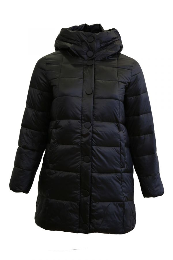 Square quilt puffer in black colour