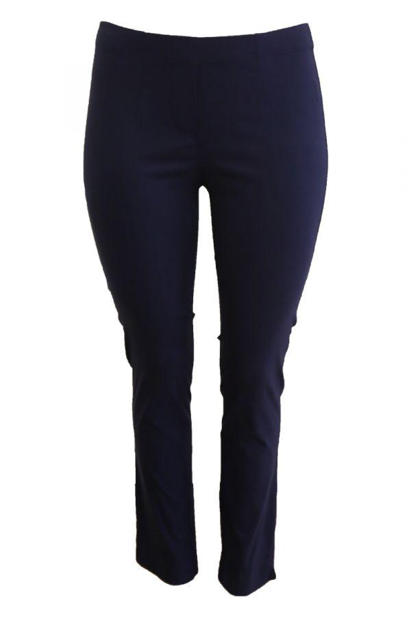 Elastic slim fit trousers in blue colour