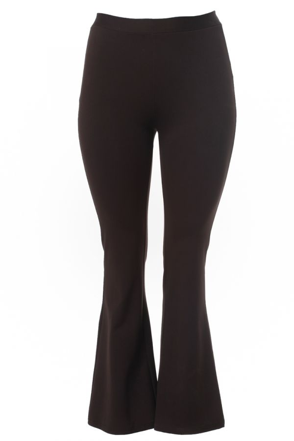 """""""Napoli"""" flared trousers in brown colour"""