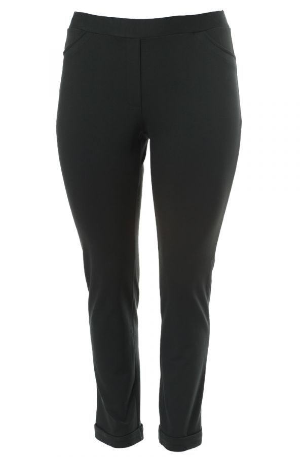"""""""Oslo"""" trousers with cuffs in black colour"""