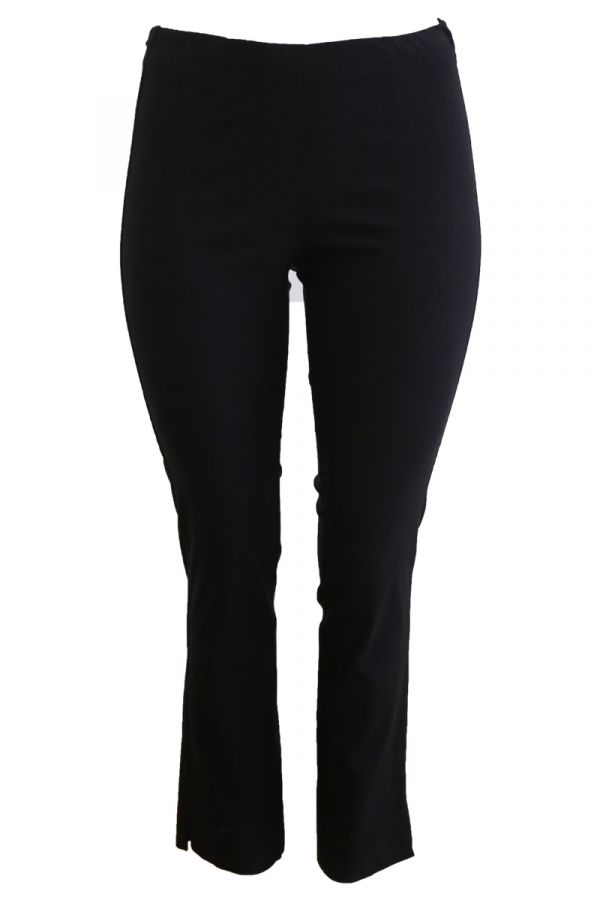 Elastic slim fit trousers in black colour