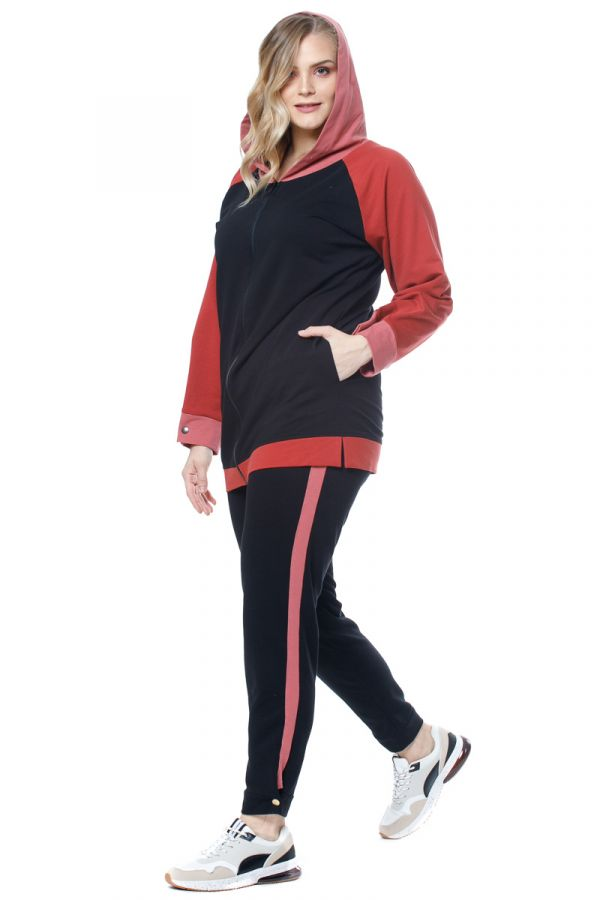 Joggers with stud-detailed cuffs in multicolour