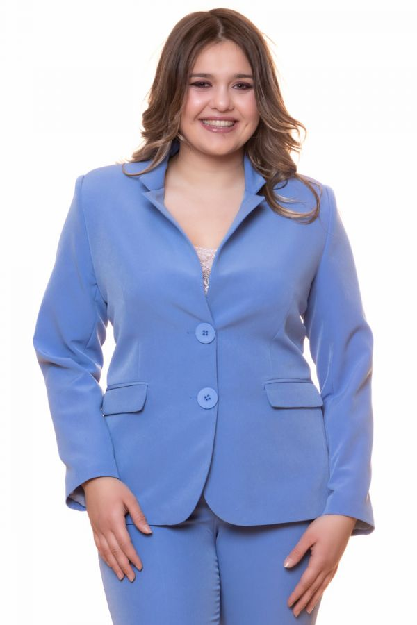 Crepe-blazer in light blue colour