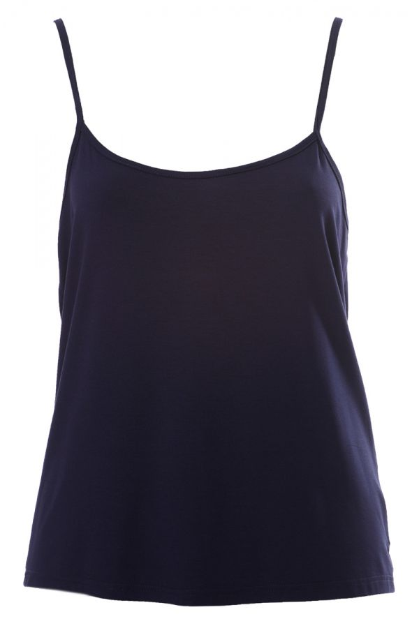 Light-weight cami top in blue colour