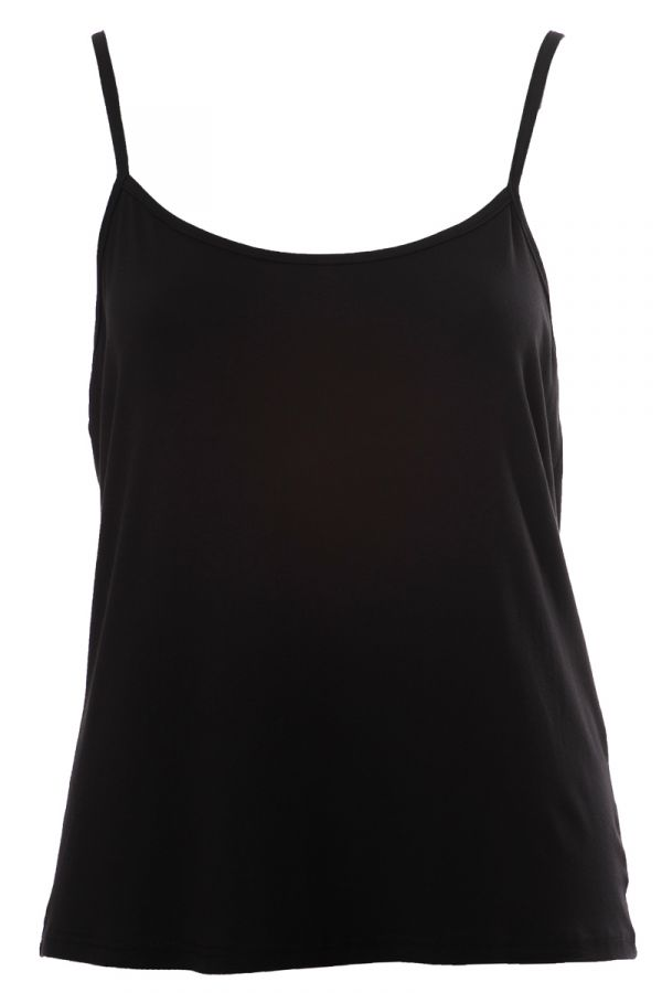 Light-weight cami top in black colour