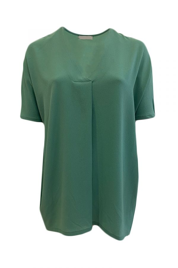 Tunic with box pleat in mint colour