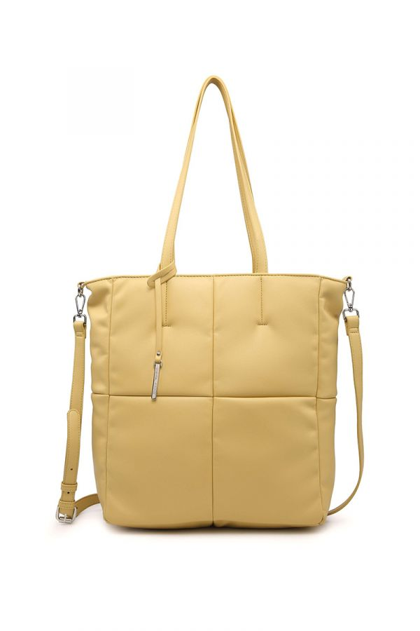 Shopping-bag style bag in yellow colour