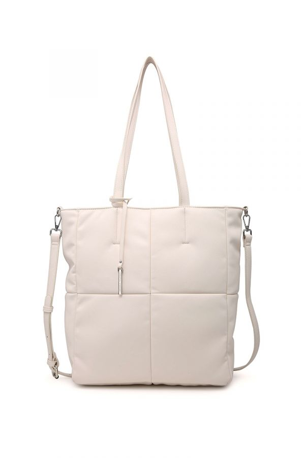 Shopping-bag style bag in powder pink colour